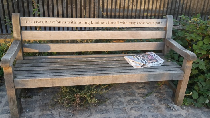 Bench along the Thames Path